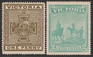 VICTORIA : 1900 Boer War Fund set 1d & 2d. SG 374-75 cat £460.