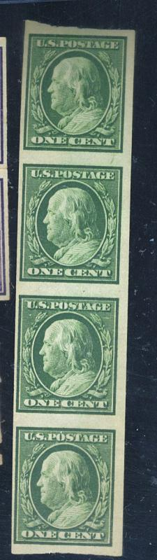 343V MINT Strip of 4 F-VF OG NH Cat$110