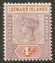 1890 Leeward Islands Scott 4 Queen Victoria MH