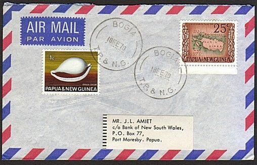 PAPUA NEW GUINEA 1970 cover ex BOGIA.......................................74184