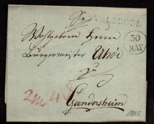 $German Stampless Cover, Walsrode (1825)
