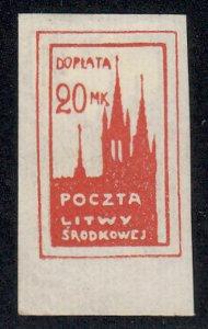 Central Lithuania - 1920-21 - SC J6 - H