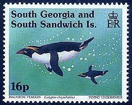 HERRICKSTAMP SOUTH GEORGIA Sc.# 170-73 Marconi Penguins