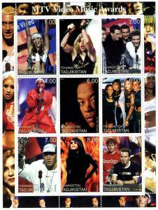 Tajikistan 2001 MTV Music Awards Sheet Perforated Mint (NH)