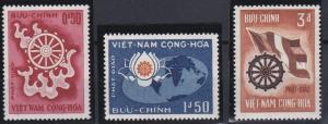 Vietnam 255-257 MNH (1965)