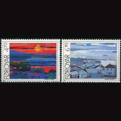 FAROE IS. 1987 - Scott# 166-7 Paintings Set of 2 NH