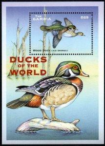 Gambia 2512 - Mint-NH - 25d Wood Duck (2001) (cv $5.60)