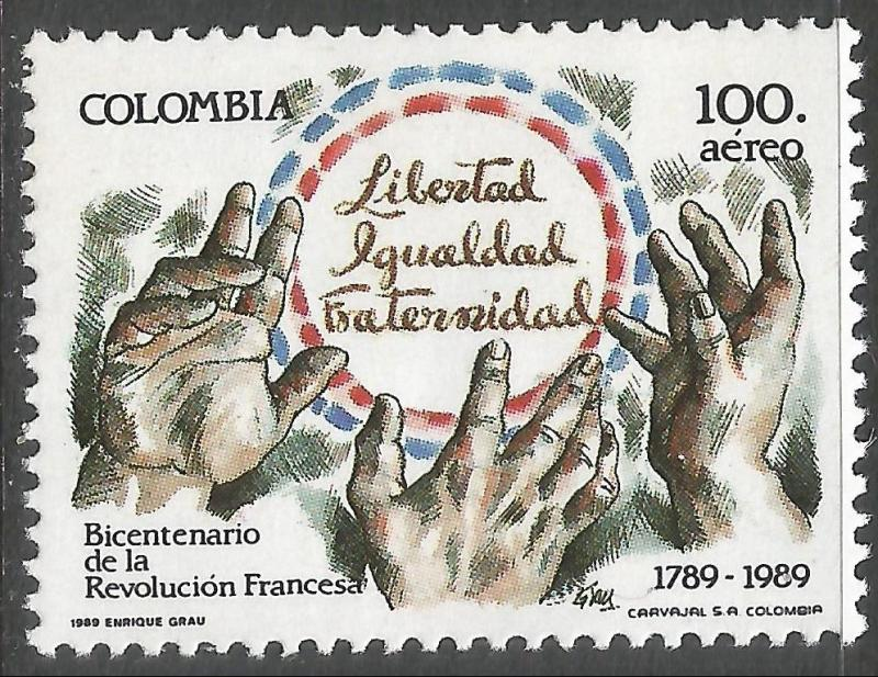 COLOMBIA C804 MNH FRENCH REV. Z4894