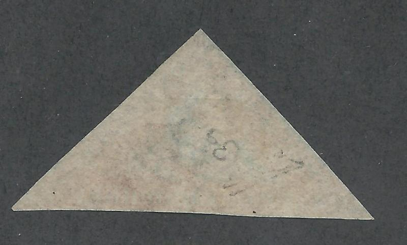 CAPE GOOD HOPE 1853 TRIANGLE 1D BLUED PAPER