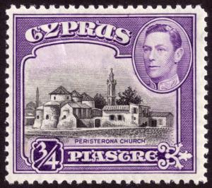 Cyprus 1938 ¾pi Black and Violet SG153 MH