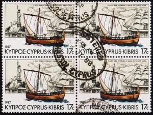 Cyprus. 1987 17c(Block of 4) S.G.709 Fine Used