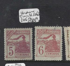 HONDURAS  (PP1702B)  TRAIN SC 105B, 106B 5C, 6C SHADES   MOG