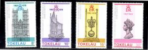 TOKELAU #61-64  1978  QEII  25TH ANNIV.  MINT  VF NH  O.G