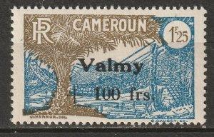 Cameroun 1943 Sc B21 Yt 240 MH* partial gum