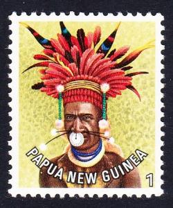 Papua NG Man from Kundiawa Hairdress 1c SG#318 SC#445