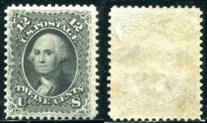 HERRICKSTAMP UNITED STATES Sc.# 69 12¢ Black, Large Part O.G., LH