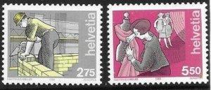1989   SWITZERLAND  -  SG.  1168 / 1176  -  OCCUPATIONS  -  MNH