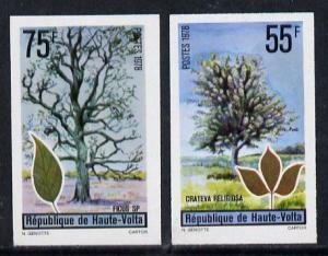 Upper Volta 1972 Trees set of 2 imperf from limited print...