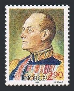 Norway 930,931 ac sheet,MNH.Michel 998,Bl.9. King Olav V,85th birthday,1988.