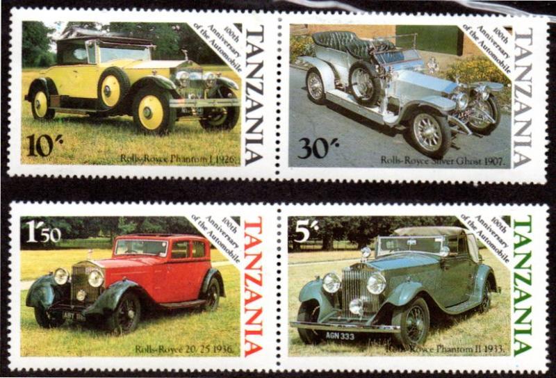Tanzania MNH 263-6 Vintage Cars 1985