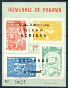 1963 Panama MNH OG Souvenir sheet visit of 4 astronauts from USA