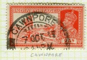 INDIA; POSTMARK fine used cancel on GVI issue, Cawnpore