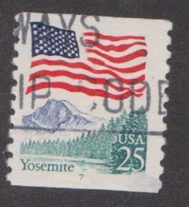 US #2280 Yosemite Flag Used PNC Single block tag  plate #7