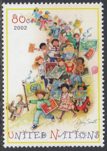 UN 817 MNH - Children and Stamps