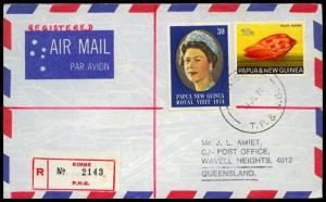 PAPUA NEW GUINEA 1974 Registered cover ex KIMBE............................91333