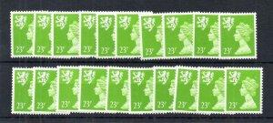 23p 2 BANDS SCOTLAND REGIONAL SG S68 UNMOUNTED MINT x20 Cat £180