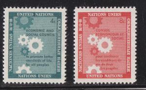 UN - NY # 65-66, Cogwheels  Mint NH, 1/2 Cat.