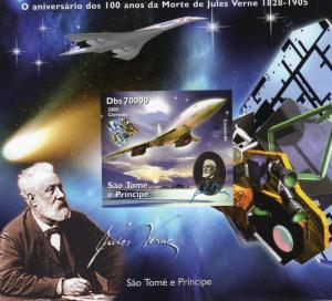 Sao Tome and Principe 2005 J.Verne Anniv/Halley's Comet/Concorde SS Imperf.