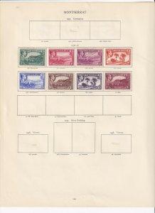 MONTSERRAT GEORGE 6TH CROWN ALBUM  PAGES  , MINT/USED