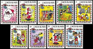 Caicos Islands 22-30, MNH, Disney Christmas 1983