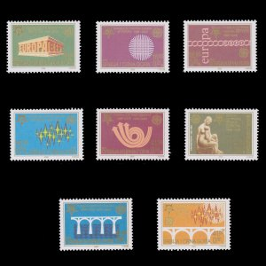 50th ANNIVERSARY EUROPA FIRST STAMP ISSUES. COUNTRY SERBIA . SCOTT # 286 - 293