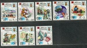 Qatar Sc#323-330 M/NH/VF, Cv. $38