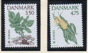 Denmark  Scott 959-60 1992 Europa stamp set mint NH