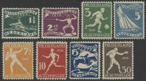 Netherlands B25 to B32 complete set - mh IX Olympiade 1928 semi-postal stamps