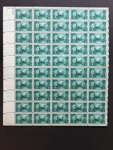 1945 sheet of postage stamps, 1 ¢ Roosevelt, Sc# 930