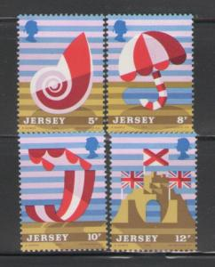 Jersey Sc 124-7 1975 tourism stamps mint NH