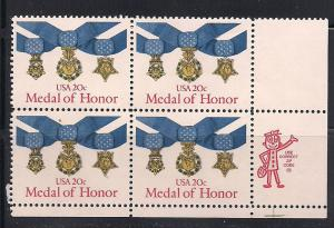 Zip Blk Sc#2045 Medal of Honor MNH LR