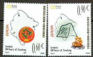 Montenegro Sc# 157-158 MNH 2007 Europa