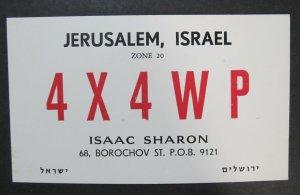 6105 Amateur Radio QSL Card Jerusalem Israel