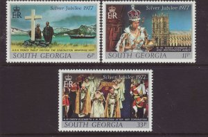 1977 South Georgia Silver Jubilee Set Unmounted Mint SG50/52