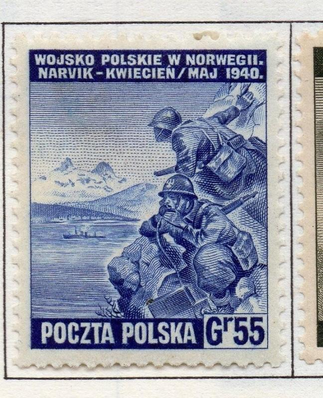 Poland 1941-44 Early Issue Fine Mint Hinged 55g. 190948