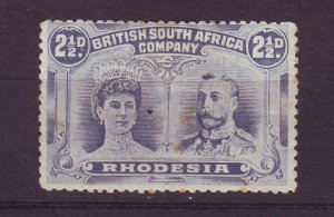 J24548 JLstamps 1910 rhodesia mh #104c perf 13. $77.50 scv see details