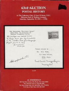 Zimmerman: Sale # 63  -  63rd Auction: Postal History, Al...