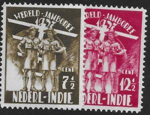 Dutch Indies 327-328 Mint Hing C/Set Jamboree Common Design