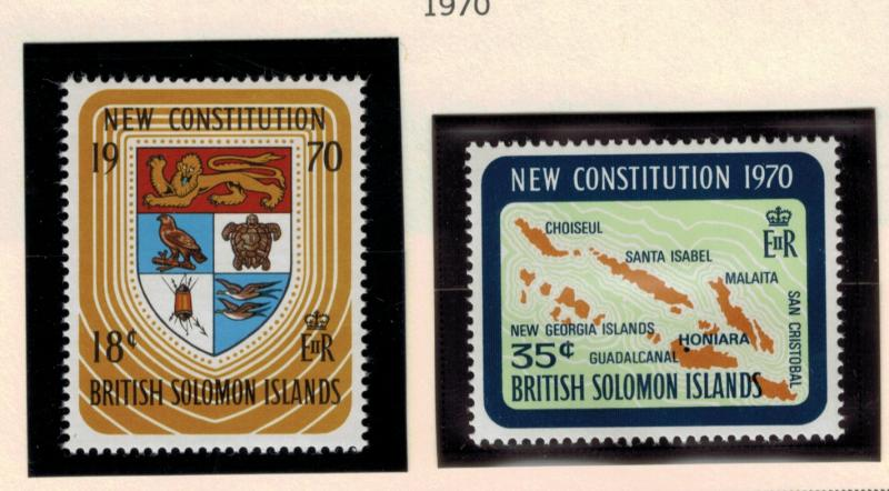 British Solomon Islands Stamps Scott #208-9, Mint Hinged - Free U.S. Shipping...