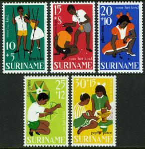 Surinam B137-B141, MNH. Child welfare. Children's Games, 1967